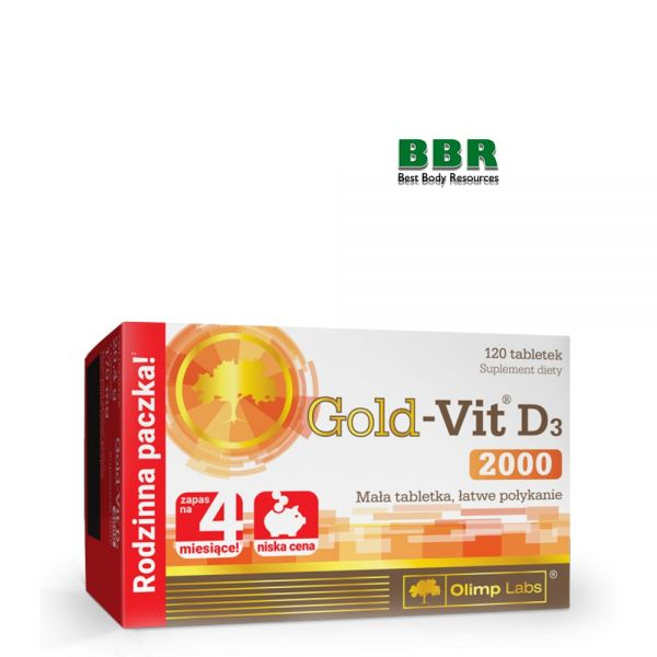Gold Vit D3 2000 120tab, Olimp