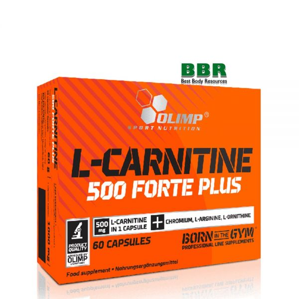 L-Carnitine 500 Forte Plus Sport Edition 60 Caps, Olimp