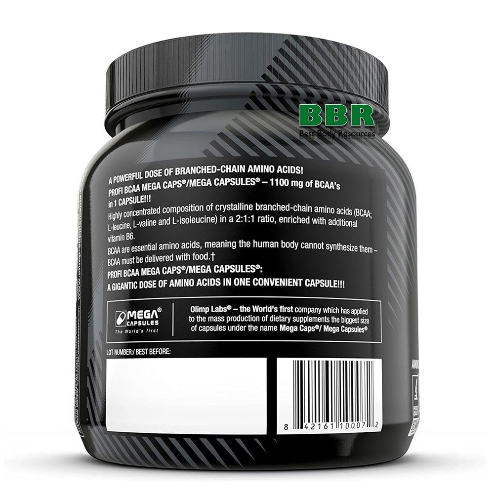 BCAA Mega Caps 1100mg 300caps, Olimp Nutrition