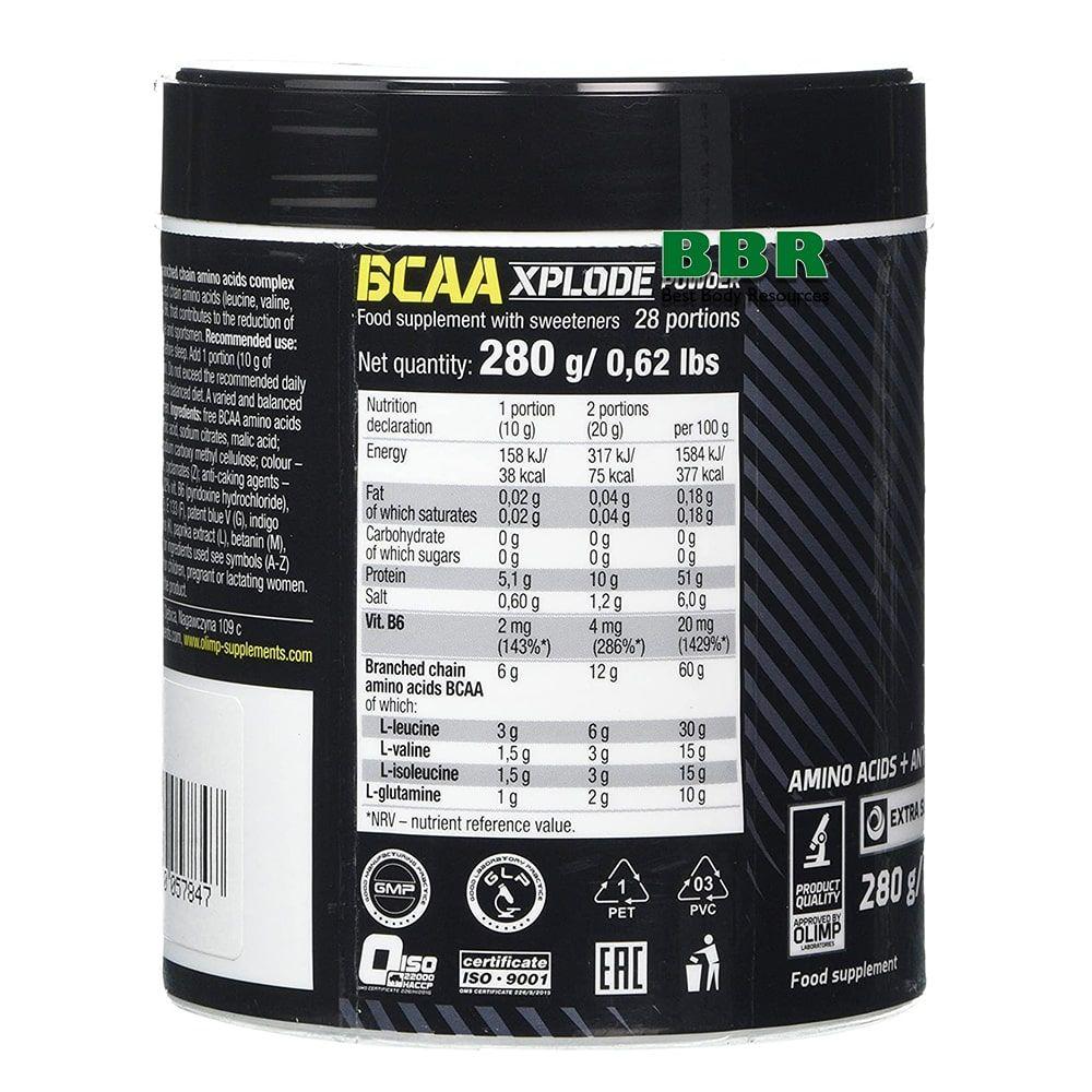 BCAA Xplode 280g, Olimp Nutrition