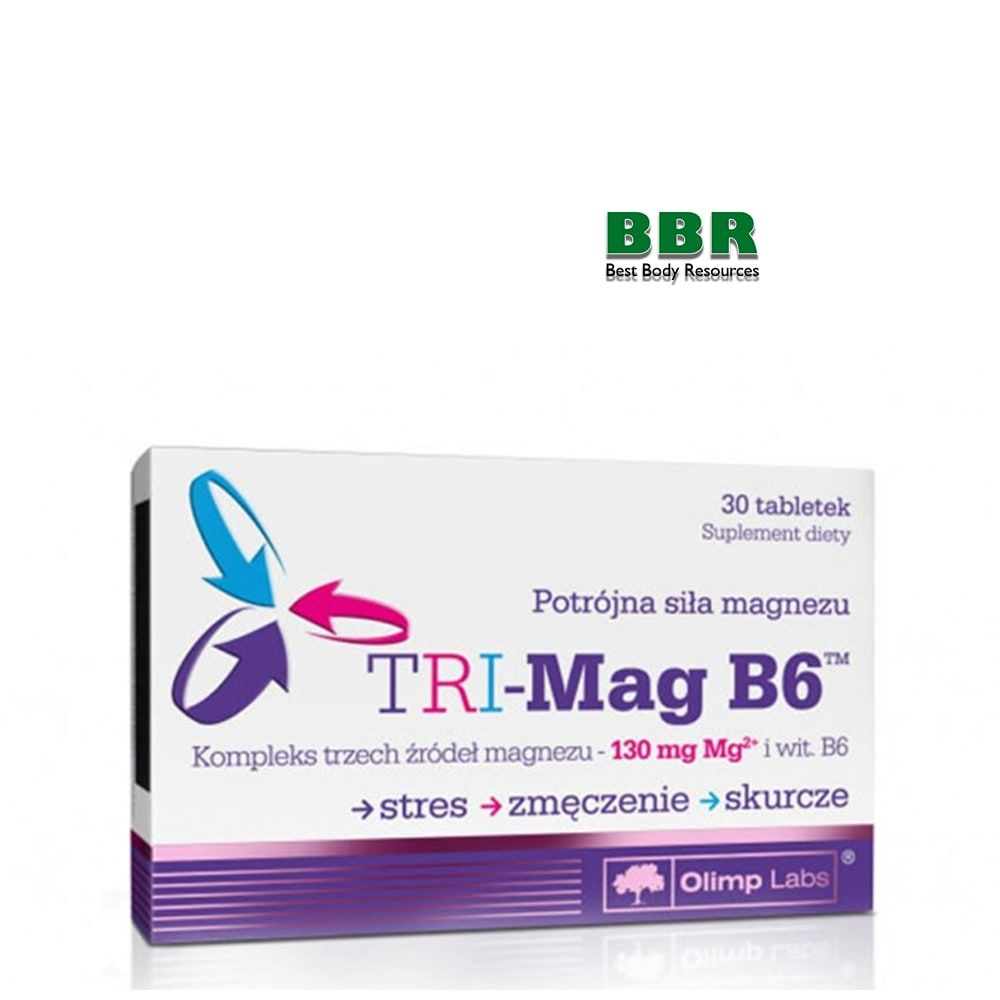 TRI-Mag B6 30caps, Olimp Labs