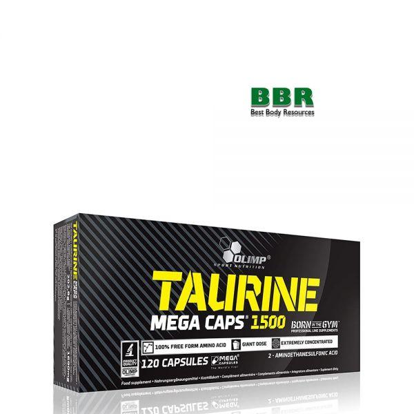 Taurine Mega Caps 1500 120caps, Olimp