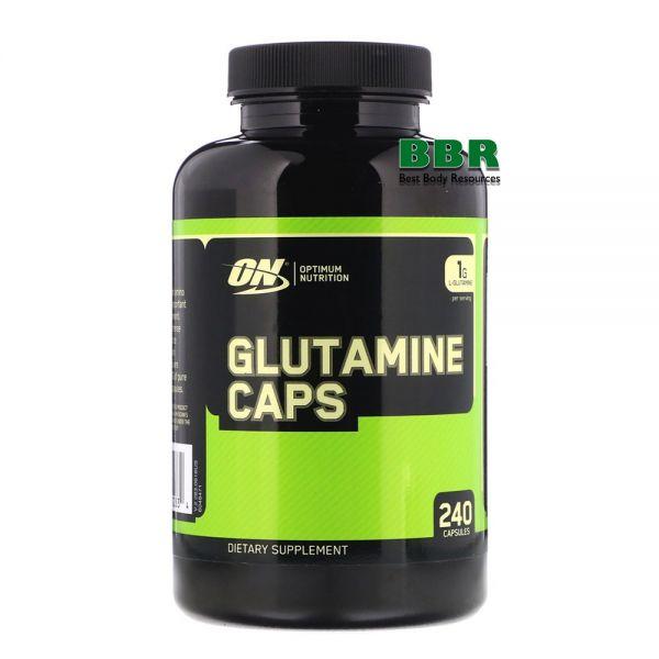 Glutamine 1000mg 240 Caps, Optimum Nutrition