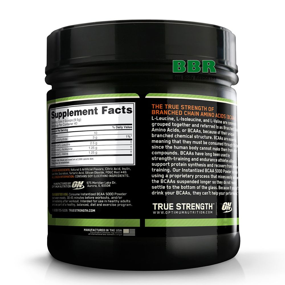 BCAA 5000 Powder 380g, Optimum Nutrition
