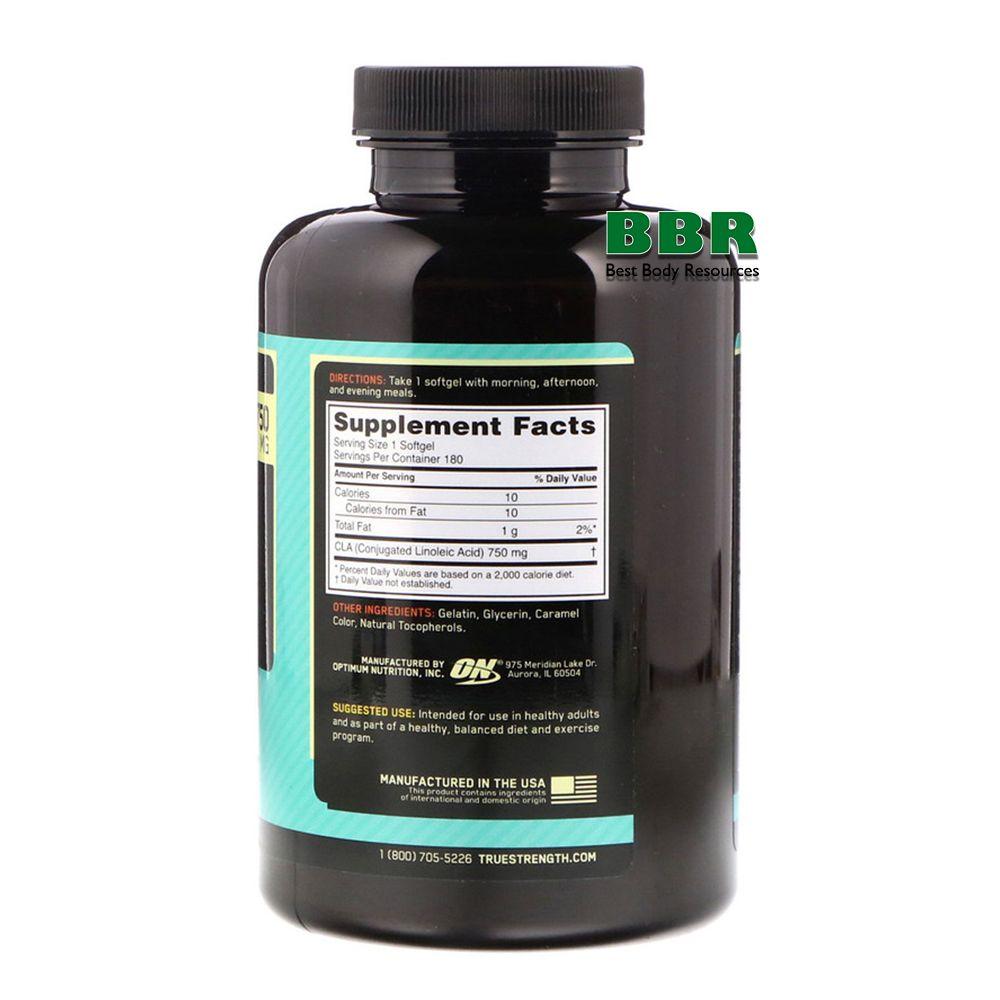 CLA 180 Softgels, Optimum Nutrition