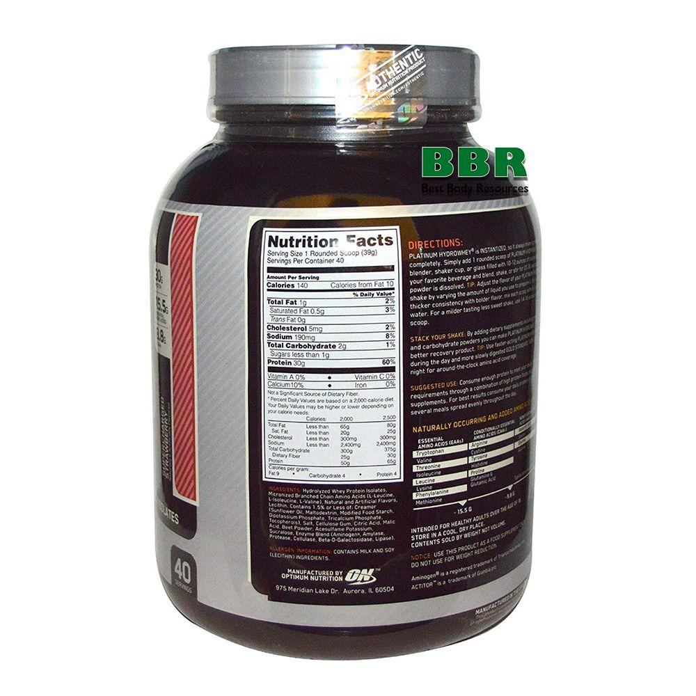 Platinum HydroWhey 1590g, Optimum Nutrition