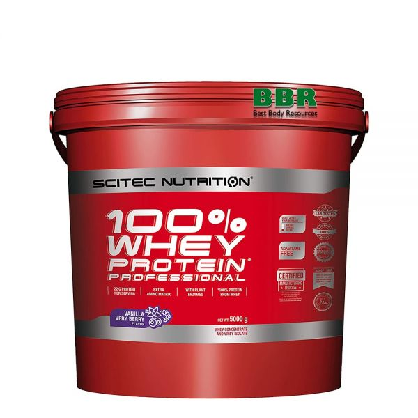 100% Whey Protein Professional 5000g, Scitec Nutrition