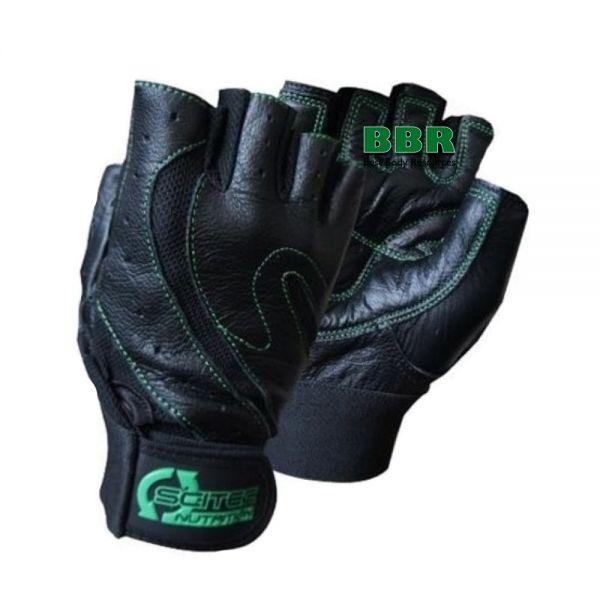 Перчатки Glove Scitec Green Leather Style, Scitec Nutrition