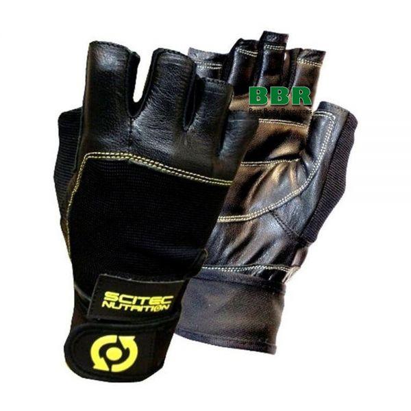 Перчатки Glove Scitec Yellow Leather Style, Scitec Nutrition