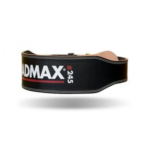 Пояс атлетический MFB-245 Full Leather Black, MadMax
