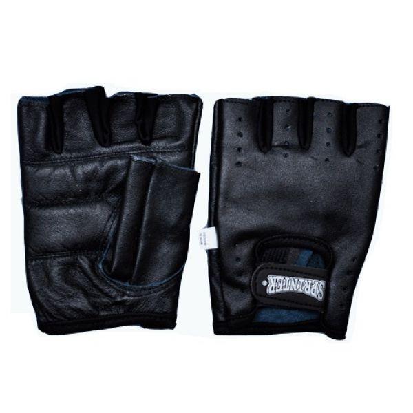 Перчатки для тяжелой атлетики Кожа/Черный, Sprinter