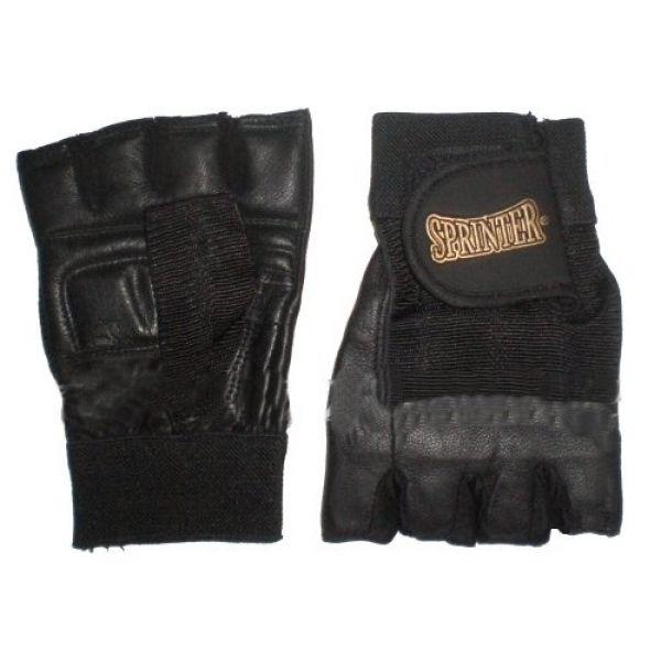 Перчатки с напульсником Кожа/Черный, Sprinter