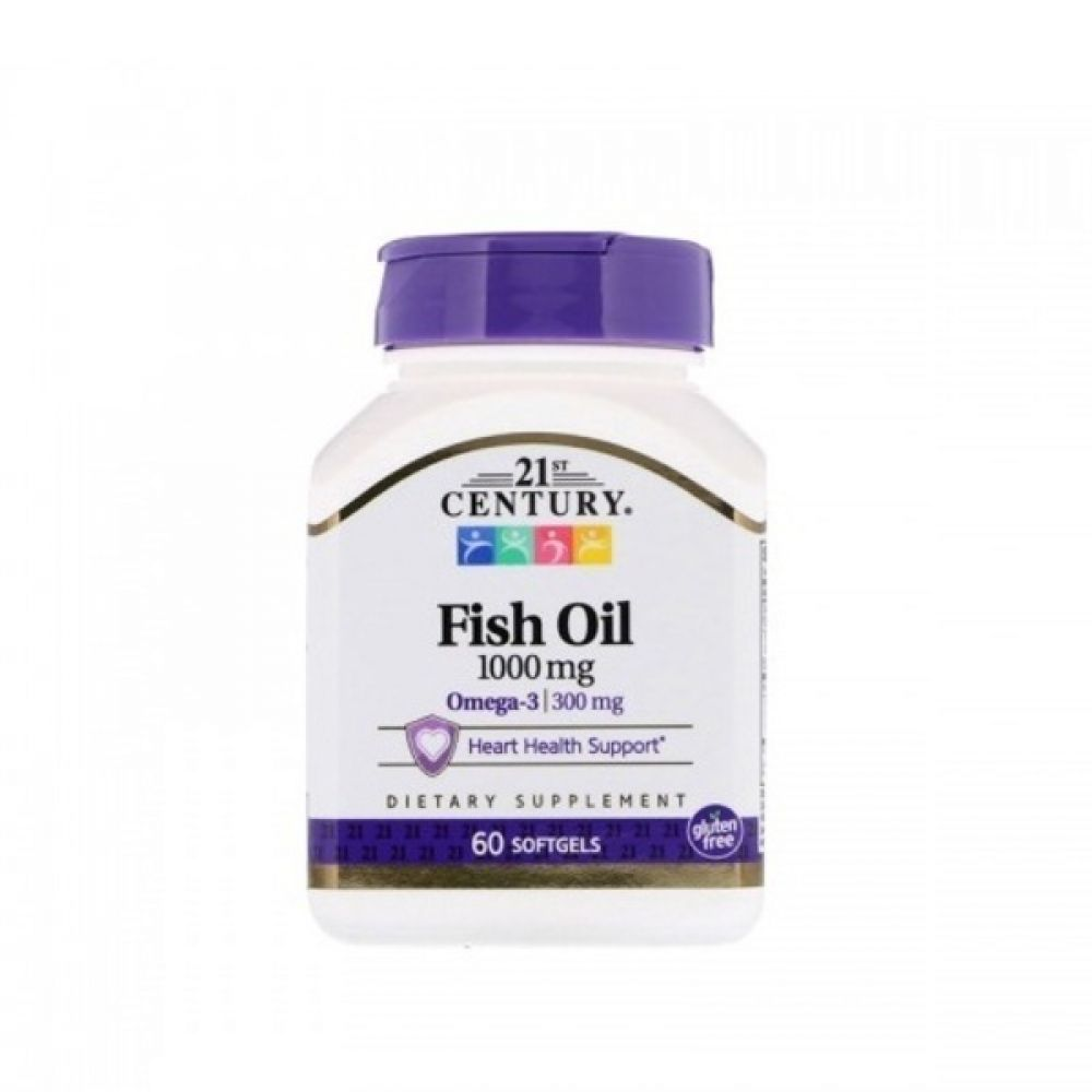 Fish Oil 1000mg 60 softgels, 21st Century