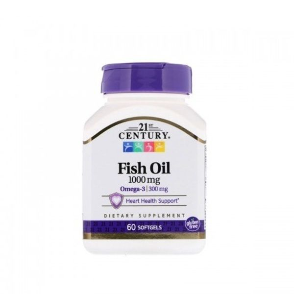Fish Oil 1000mg 60 softgels, 21st Century