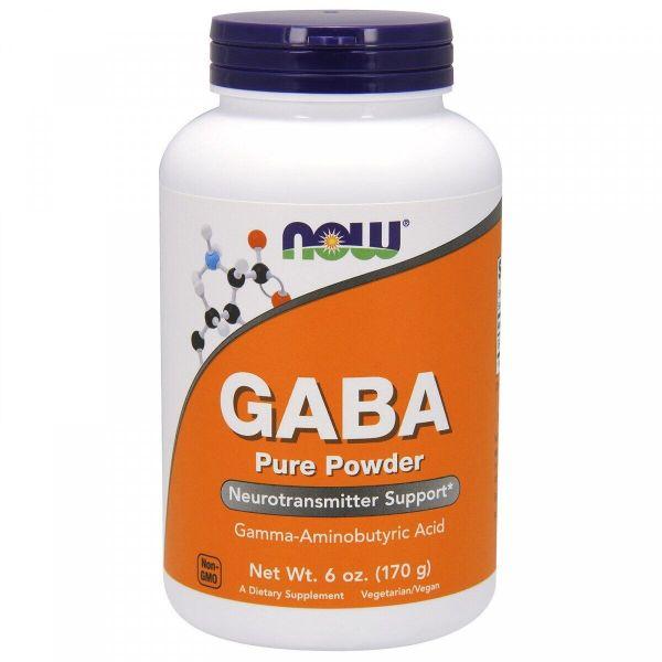 GABA 170g, NOW Foods