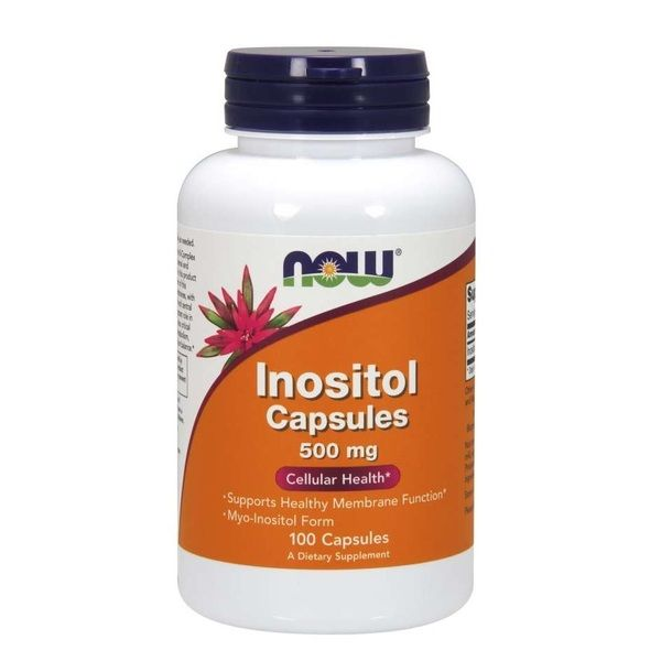 Inositol 500mg 100 Veg Caps, NOW Foods