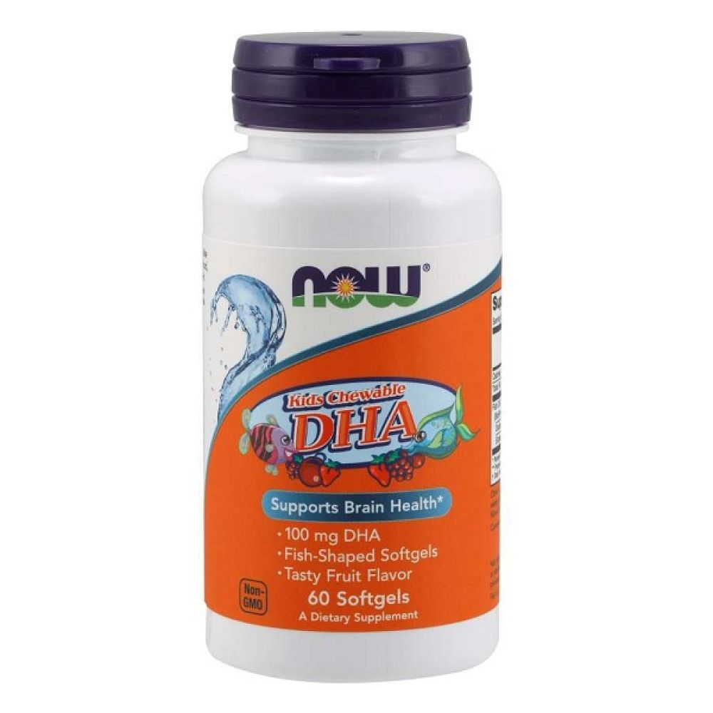 Kids Chewable DHA 60 Softgels, NOW Foods