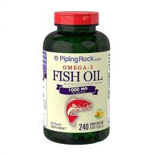 Omega 3 Fish Oil 240 softgels, PipingRock