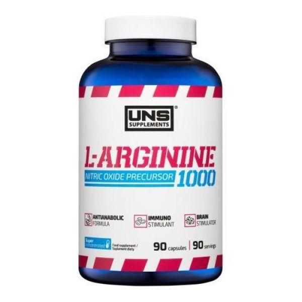 L-Arginine 1000 90caps, UNS
