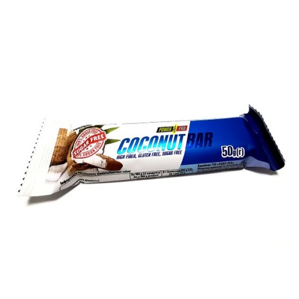Батончик Coconut Sugar Free 50g, PowerPro