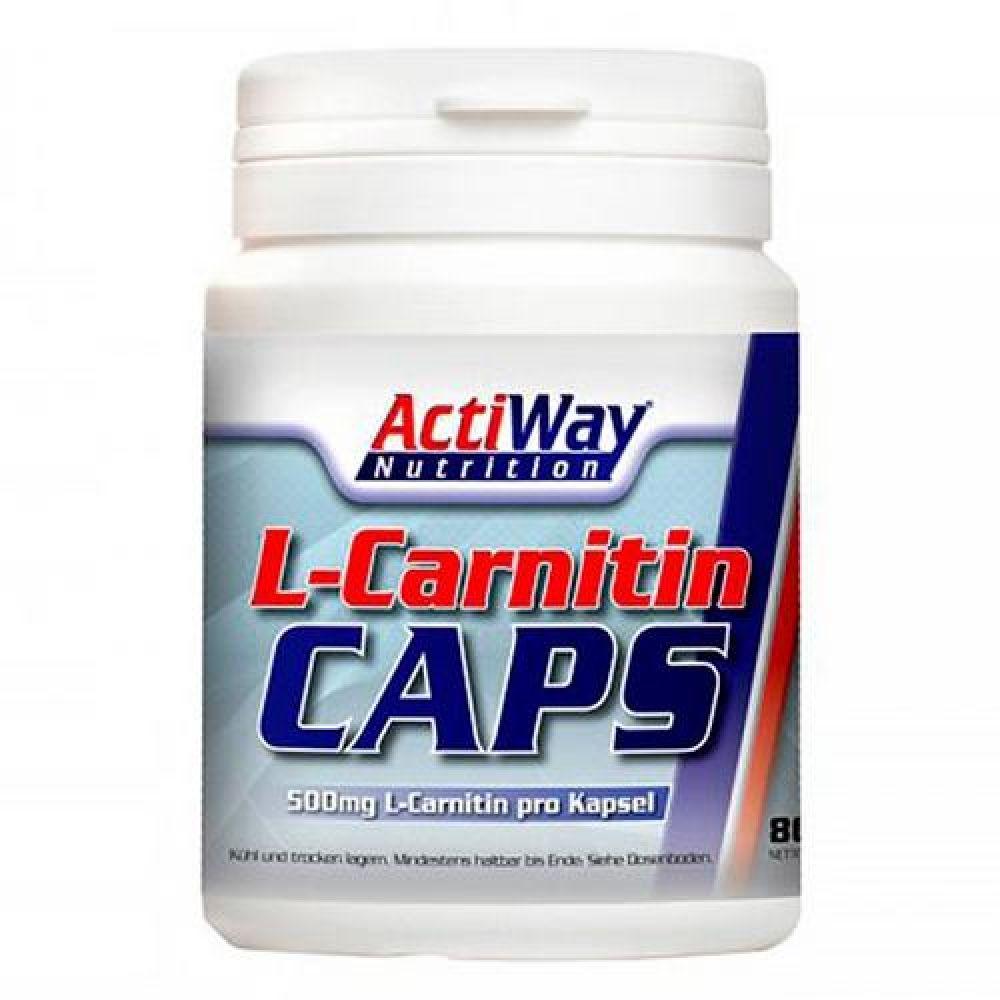 L-carnitine 500 80caps, ActiWay