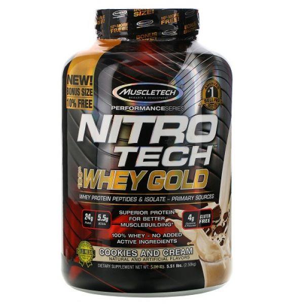 Nitro Tech Whey Gold 2.51kg, MuscleTech