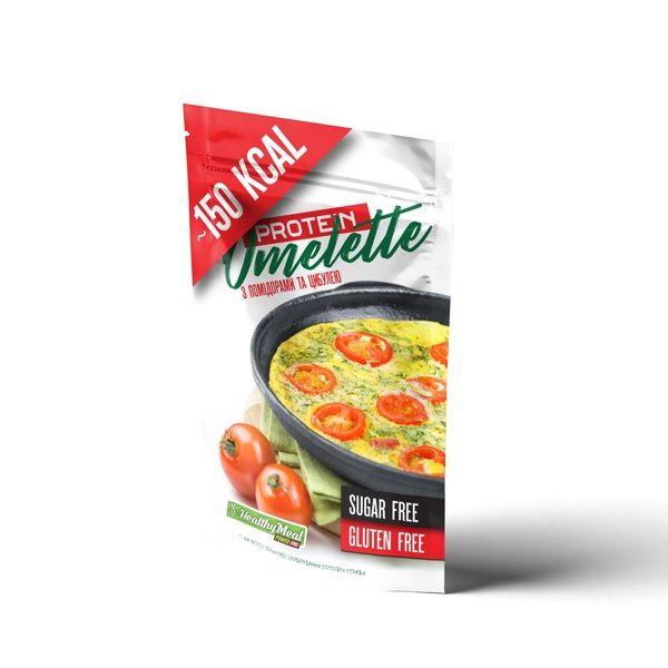 Омлет протеиновый с помидорами и луком 40г, PowerPro