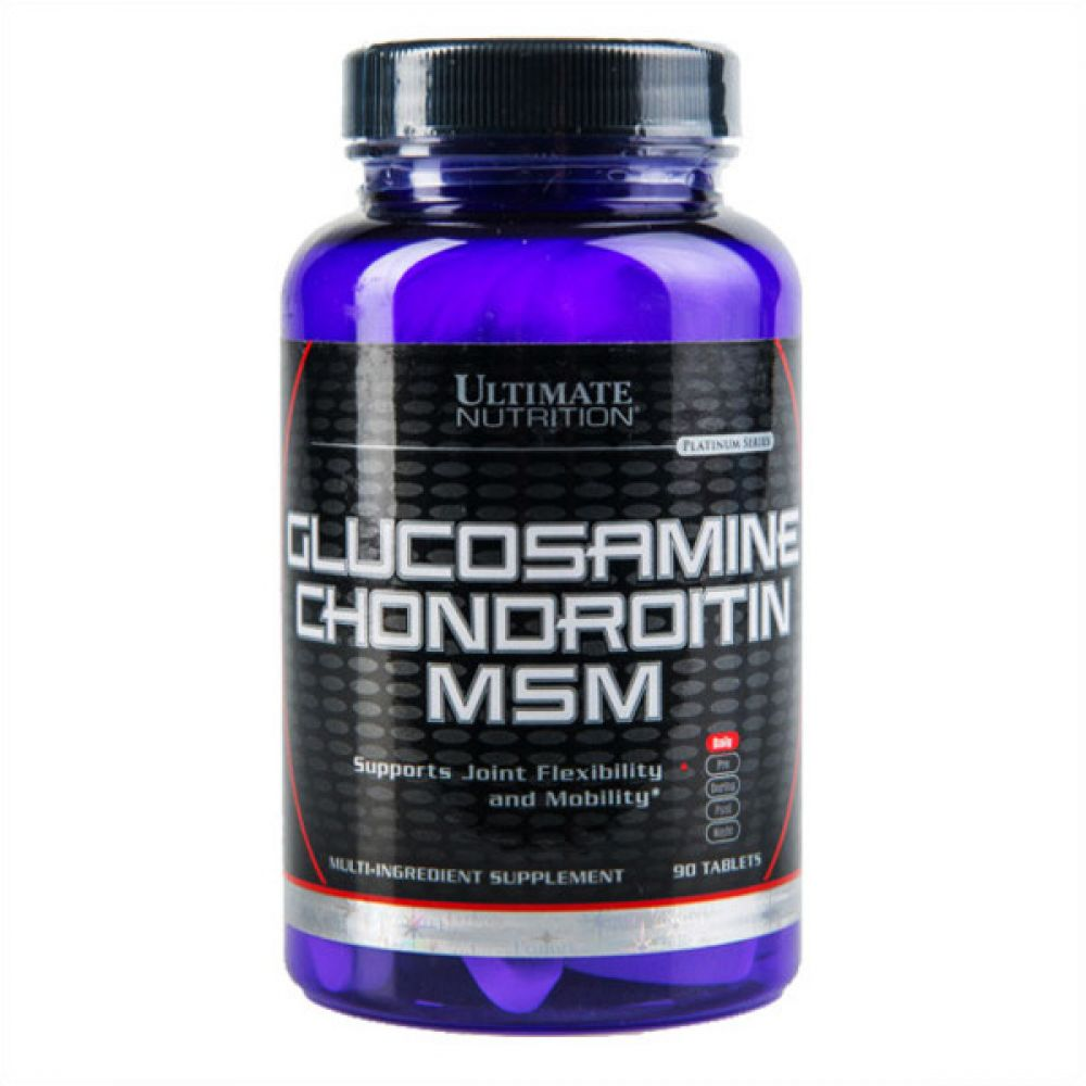 Glucosamine & Chondroitin MSM 90 Tabs, Ultimate Nutrition