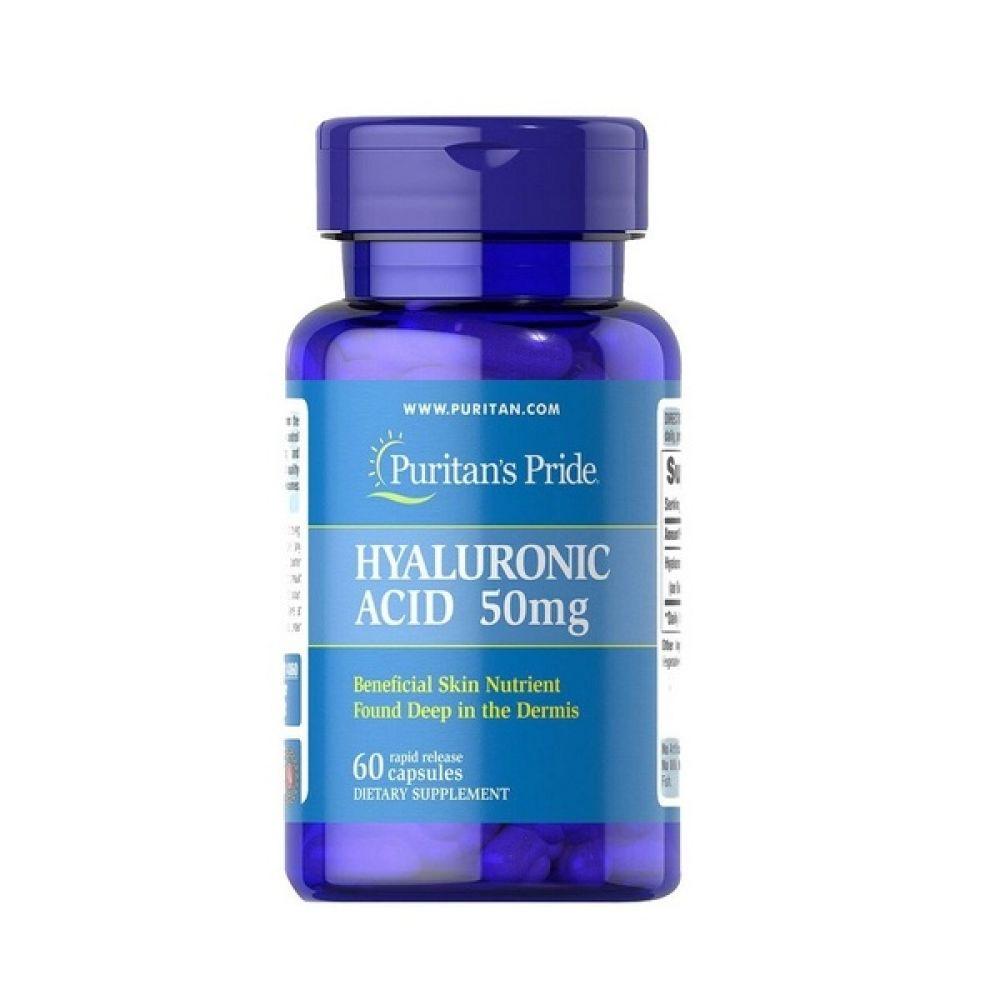 Hyaluronic Acid 50mg 60 Caps, Puritans Pride