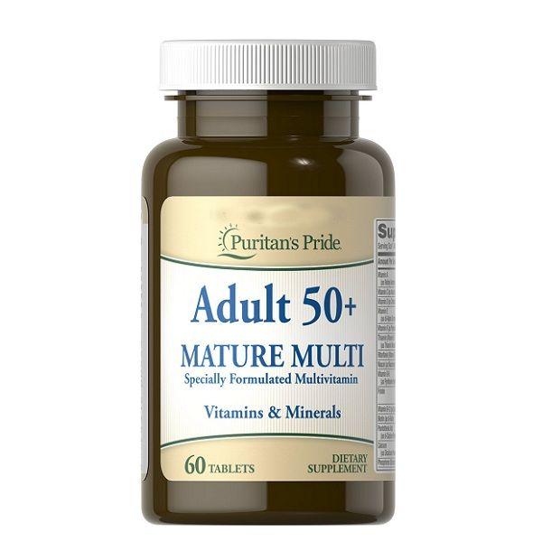Adult 50+ Nature Multi 60 Tabs, Puritans Pride