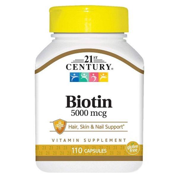 Biotin 5000 mcg 110 caps, 21st Century