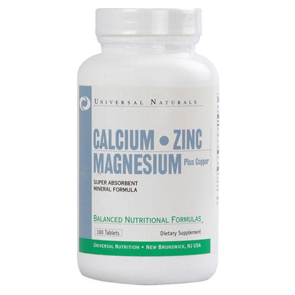 Calcium Zink Magnezium 100tab, Universal Nutrition