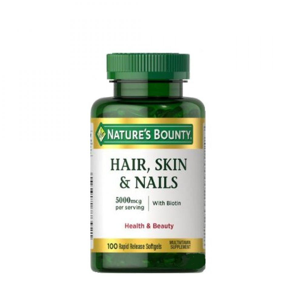 Hair, Skin & Nails 100 softgel, Natures Bounty