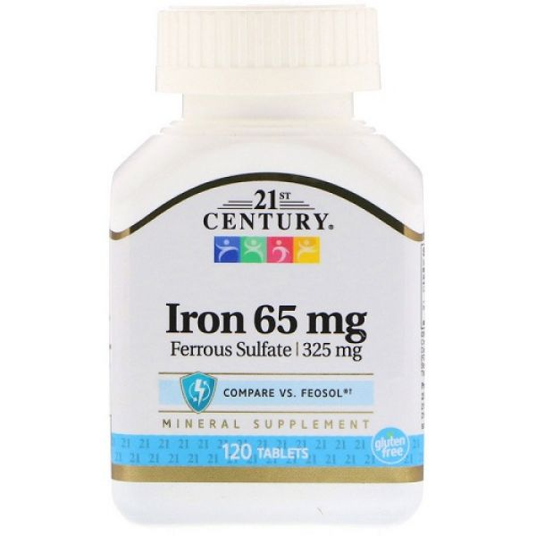 Iron 65mg 120tab, 21st Century