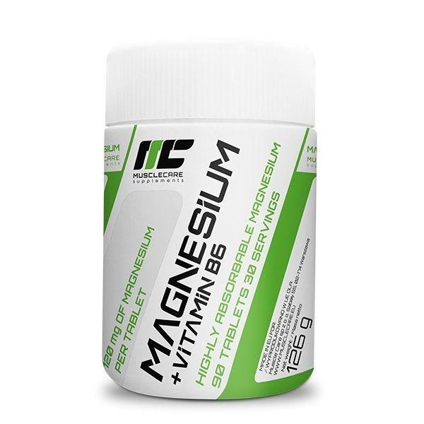 Magnesium + Vitamin B6 90 Tabs, MuscleCare