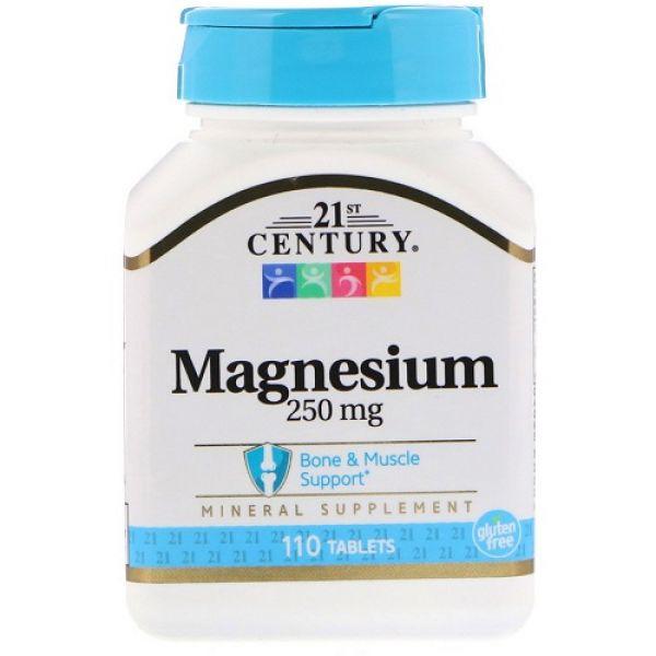 Magnesium 250mg 110tab, 21st Century