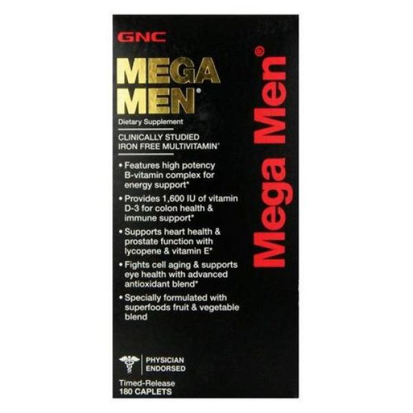Mega Men 180caps, GNC