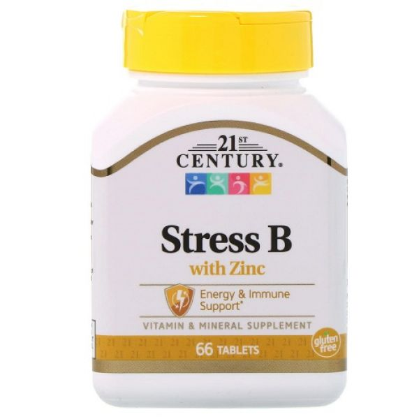 Stress B with Zinc 66tab, 21st Century