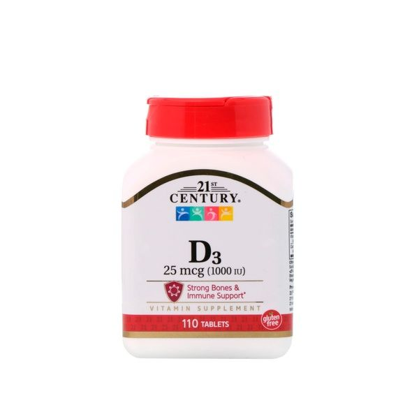 Vitamin D3 1000iu 110tab, 21st Century