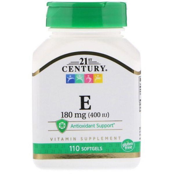 Vitamin E 180mg 110softgels, 21st Century