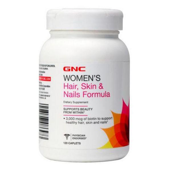 Womens Hair, Skin & Nails Formula 120caps, GNC
