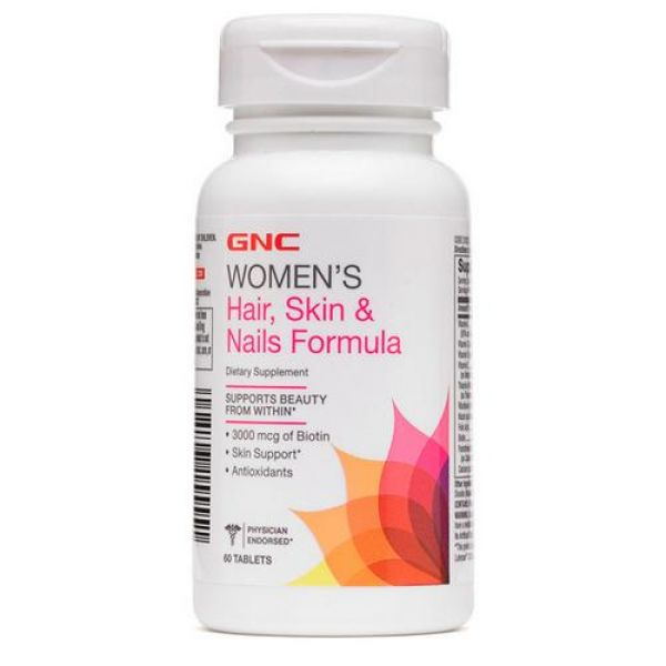 Womens Hair, Skin & Nails Formula 60caps, GNC