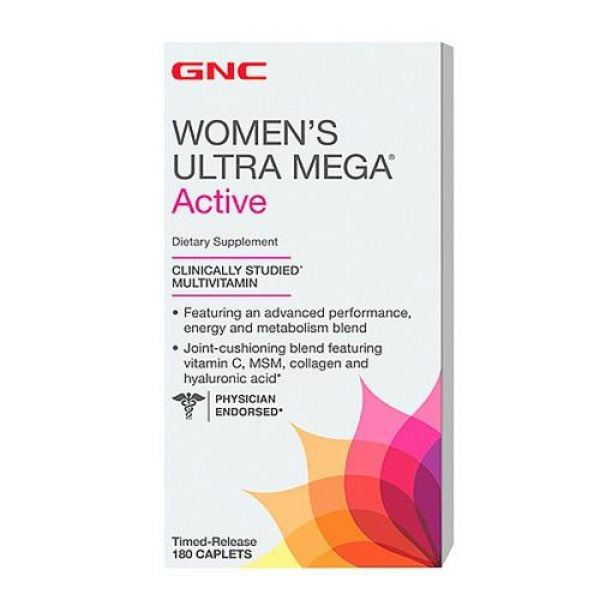 Womens Ultra Mega Active 180caps, GNC
