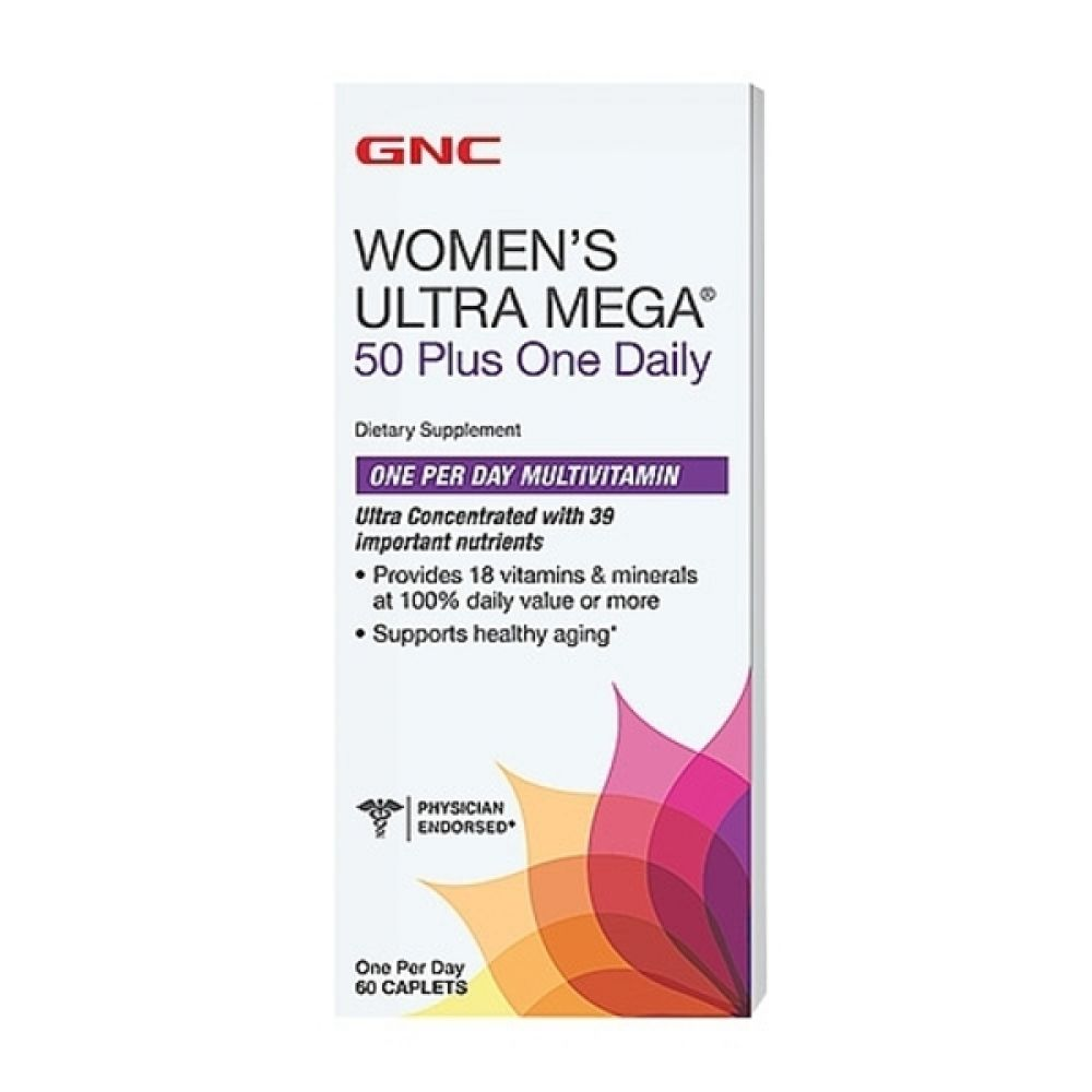 Womens Ultra Mega 50 One Daily 60caps, GNC