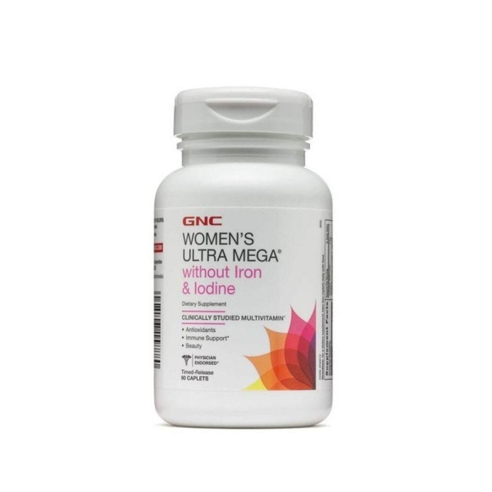 Womens Ultra Mega without Iron & Iodine 90caps, GNC
