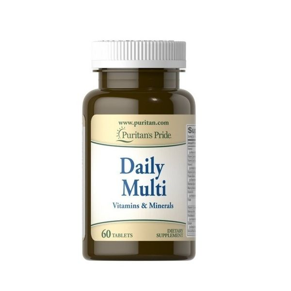 Daily Multi Vitamins and Minerals 60 Tabs, Puritans Pride