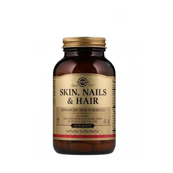 Skin, Nails & Hair, Advanced MSM Formula 120 Tabs, Solgar