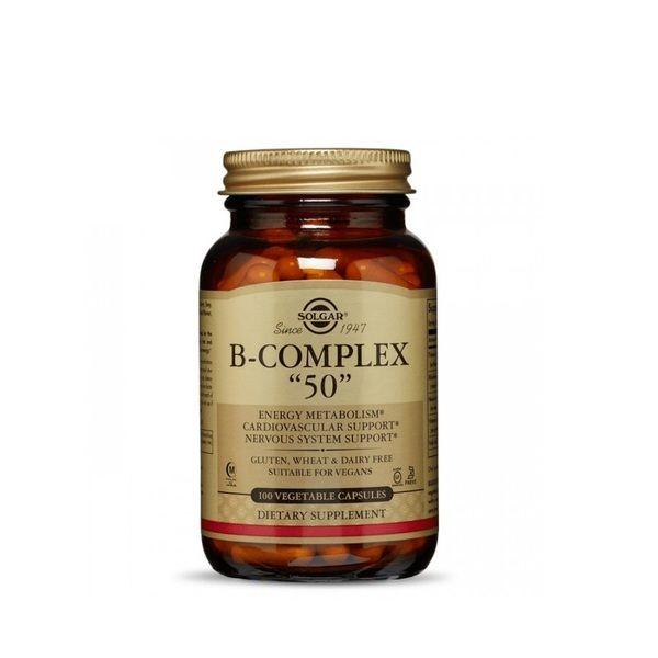 Vitamin B-Complex 50 100 Veg Caps, Solgar