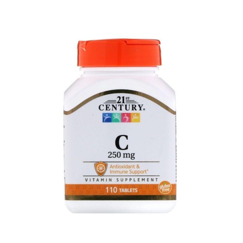 Vitamin C 250mg 110 Tab, 21st Century