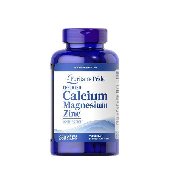 Chelated Calcium, Magnesium, Zinc 250 Tabs, Puritans Pride